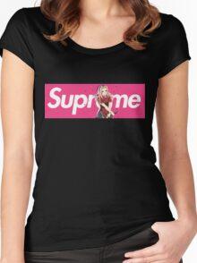 Sakura Naruto x Supreme Parody Collab Big Box Logo Pink Women's Fitted Scoop T-Shirt