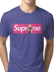 Sakura Naruto x Supreme Parody Collab Big Box Logo Pink Tri-blend T-Shirt
