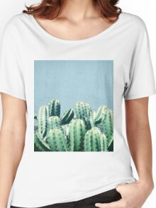 Cactus & Teal #redbubble #lifestyle Women's Relaxed Fit T-Shirt