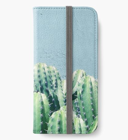 Cactus & Teal #redbubble #lifestyle iPhone Wallet