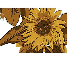 Sunflower cartoon Photographic Print