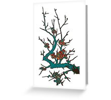Sakura branch.Branch of a blossoming cherry Greeting Card