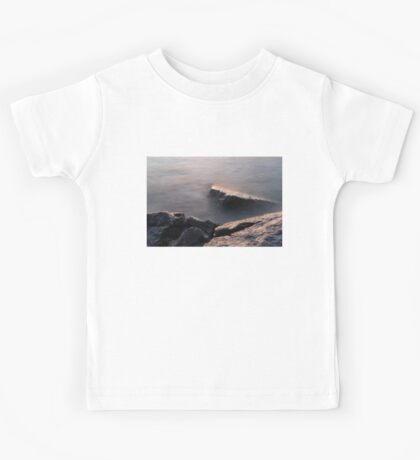 Rough and Soft - Rocks on the Beach at Sunrise Kids Tee