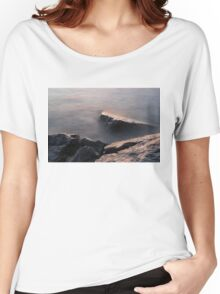 Rough and Soft - Rocks on the Beach at Sunrise Women's Relaxed Fit T-Shirt