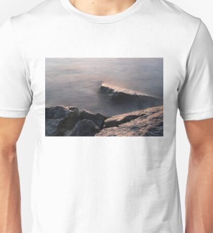 Rough and Soft - Rocks on the Beach at Sunrise Unisex T-Shirt