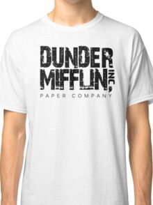 DUNDER MIFFLIN TSHIRT Funny Humor THE OFFICE TEE Paper COMPANY Dwight Humorous Classic T-Shirt