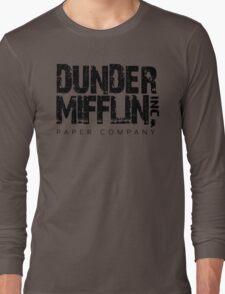 DUNDER MIFFLIN TSHIRT Funny Humor THE OFFICE TEE Paper COMPANY Dwight Humorous Long Sleeve T-Shirt