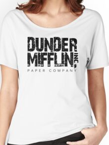 DUNDER MIFFLIN TSHIRT Funny Humor THE OFFICE TEE Paper COMPANY Dwight Humorous Women's Relaxed Fit T-Shirt