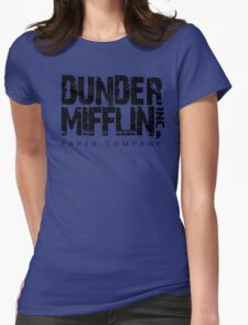 DUNDER MIFFLIN TSHIRT Funny Humor THE OFFICE TEE Paper COMPANY Dwight Humorous Womens Fitted T-Shirt
