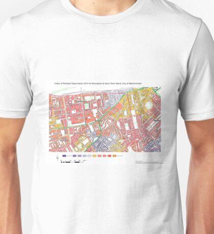 Multiple Deprivation Brompton & Hans Town ward, Westminster Unisex T-Shirt