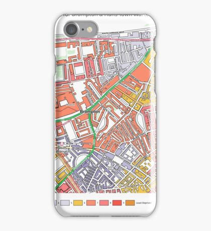 Multiple Deprivation Brompton & Hans Town ward, Westminster iPhone Case/Skin