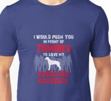 Front Of Zombies Rhodesian Ridgeback Unisex T-Shirt