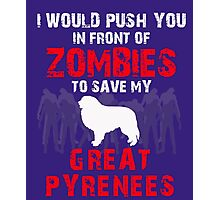 Front Of Zombies Great Pyrenees Photographic Print