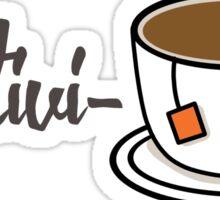 Positivi-Tea (Positivity) Visual Pun Design Sticker