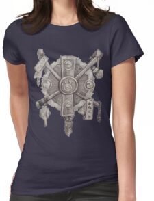 Monk crest Womens Fitted T-Shirt