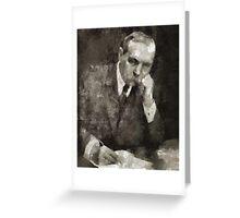 Sir Arthur Conan Doyle Author Greeting Card
