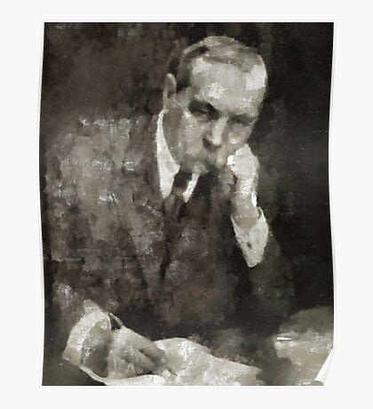 Sir Arthur Conan Doyle Author Poster