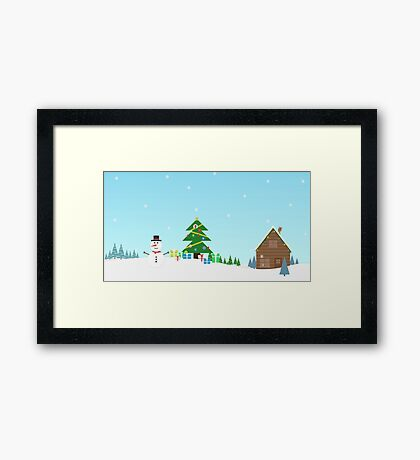 Christmas Wallpaper Framed Print