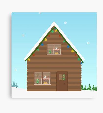 Christmas Wallpaper Canvas Print