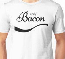 ENJOY BACON TSHIRT Funny Humor Pork TEE COKE FOOD Rude Offensive Meat Breakfast Unisex T-Shirt