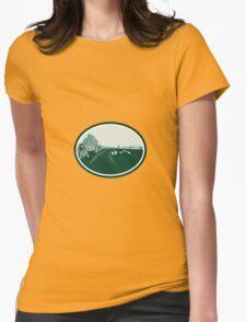 Avebury Stone Henge Circle Retro Womens Fitted T-Shirt