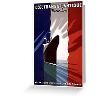 French Voyage Greeting Card