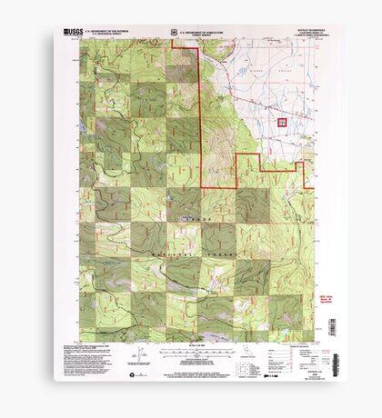 USGS TOPO Map California CA Sattley 295100 2000 24000 geo Canvas Print