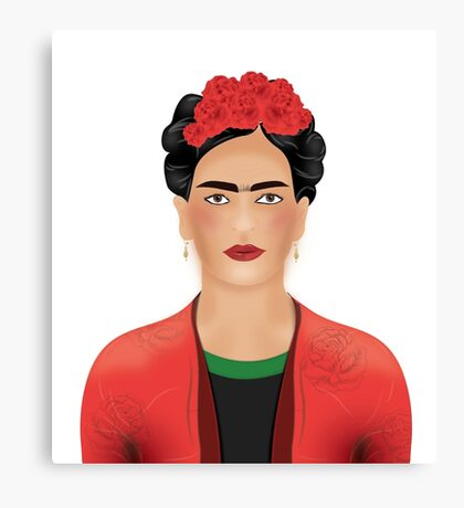 Frida Kahlo - Mexican Painter  Canvas Print
