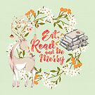 Eat, Read and Be Merry by eviebookish