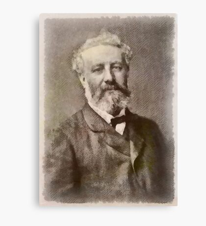 Jules Verne Author Canvas Print