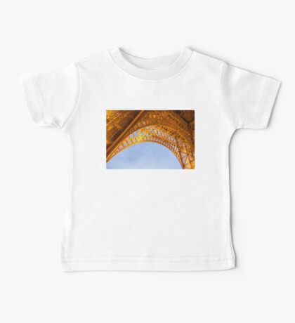 Golden Eiffel Tower Baby Tee