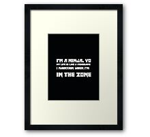 Enter The Ninja - Die Antwoord Framed Print