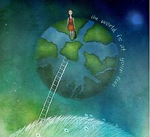 the world is at your feet by Amanda  Cass