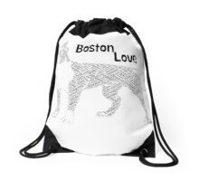 Pet Boston Terrier Love Dog Shirt Drawstring Bag