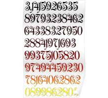 Mathematical Pi Poster