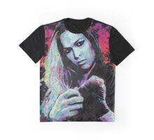 Ronda Rousey Pop Art Portrait Graphic T-Shirt
