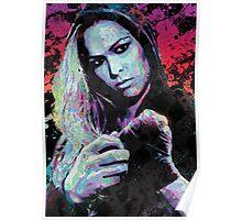 Ronda Rousey Pop Art Portrait Poster