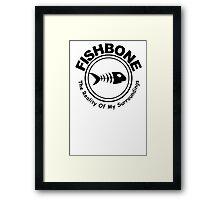 Fishbone The Reality of My Surroundings Rock Black Hooded Sweatshirt Size S M L XL Framed Print