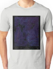 USGS TOPO Map Arkansas AR Willow 259881 1965 24000 Inverted Unisex T-Shirt