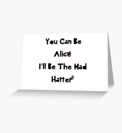 Crybaby MM Mad Hatter Greeting Card