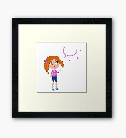 New in shop : Stylish kids illustration, purple Framed Print