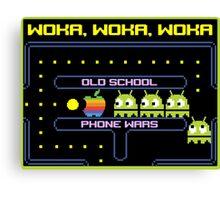 Old School Phone Wars Canvas Print