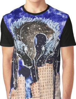 Night over the town Graphic T-Shirt
