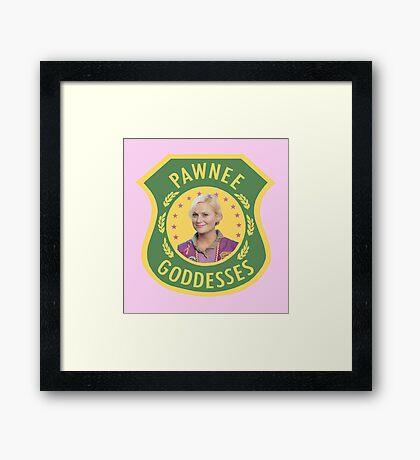 Pawnee Goddesses Leslie Knope Framed Print