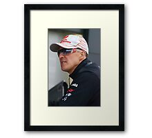 Michael Schumacher 2011 Framed Print