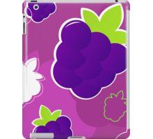 Pink blackberry : purple and green creative pattern iPad Case/Skin