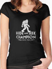 Hide &Seek Champion Since 1967 Shirt Funny Bigfoot Sasquatch Women's Fitted Scoop T-Shirt