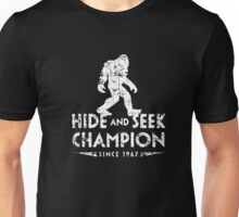 Hide &Seek Champion Since 1967 Shirt Funny Bigfoot Sasquatch Unisex T-Shirt