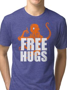 FREE HUGS TSHIRT Funny Humor TEE PEACE AND LOVE Big Bold Hippie TRENDY PARTY Tri-blend T-Shirt