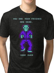 JASON FRIDAY THE 13TH 8-BIT NES Tri-blend T-Shirt